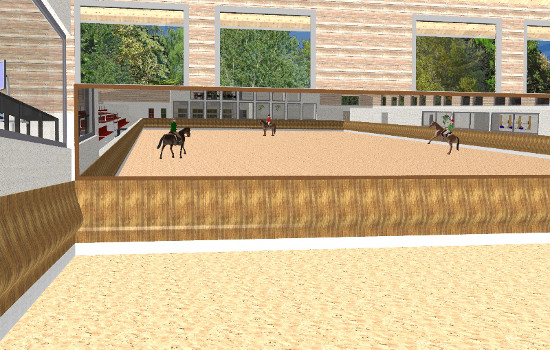 Training centre for the dressage sport