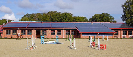 We construct a professional jumping stable for you
