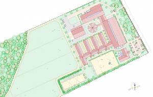 Master plan for a new construction of a jumping stable