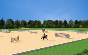Sports hotel - riding arena study