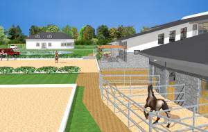 Sports hotel: Riding arena