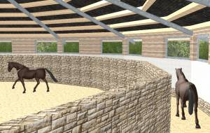Planning and building of a dressage arena