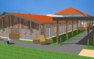 Construction of an equine clinic